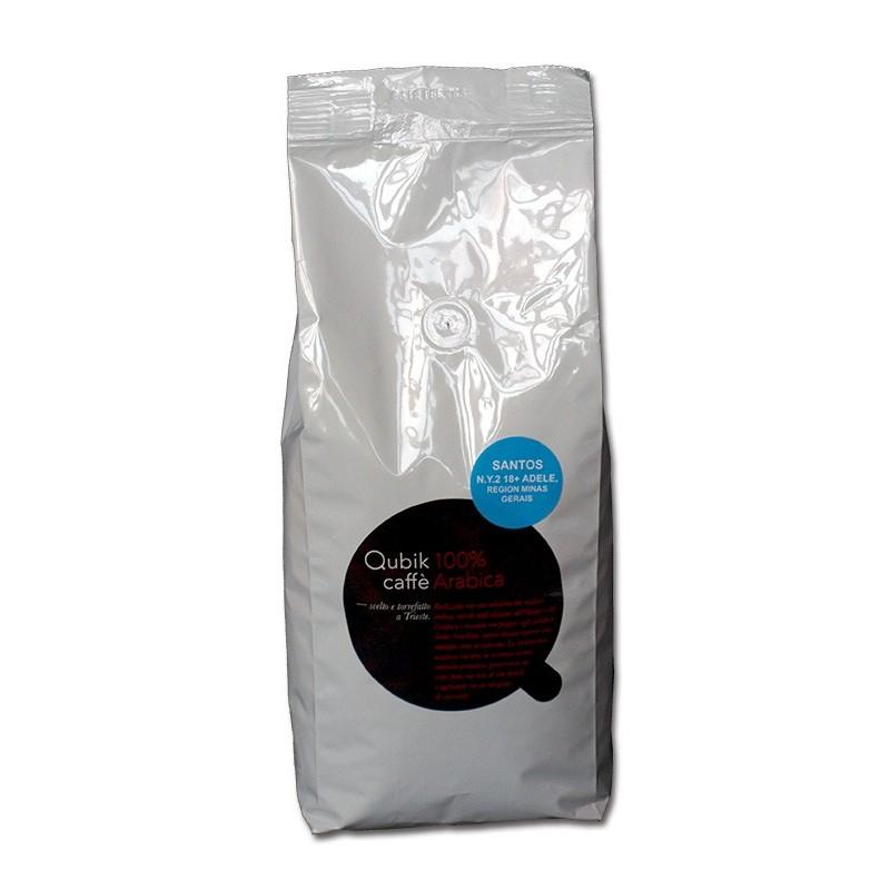 Qubik caffé 100% arabika Brazília Santos Adele 1kg