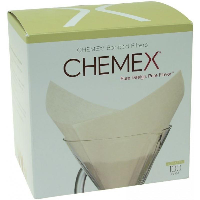 Chemex filtre na 6/8/10 šálok - skladané, kruhové, 100 ks