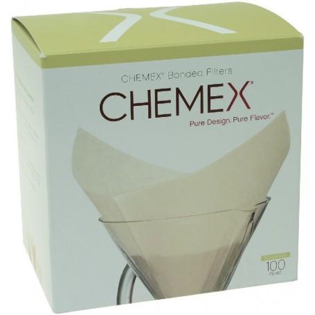 Papierove filtre pre Chemex na 6/8/10 šálkov (FC-100) - skládané, kruhové, 100 ks