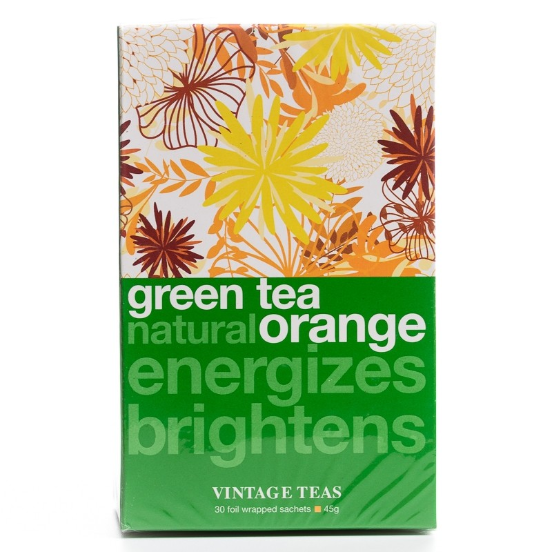 Vintage Zelený čaj s pomarančom