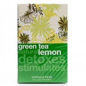 Vintage Zelený čaj prírodný citrón 30 ks