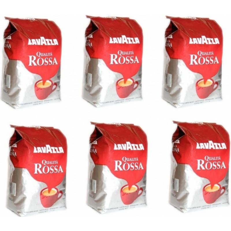 Lavazza Qualitá Rossa zrnková káva 6 x 1 kg