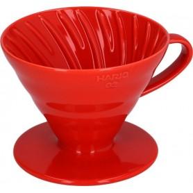 Hario dripper VDC-02 keramický - červený (VDC-02W)