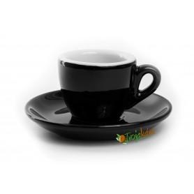 Rosa šálka espresso čierna 70 ml