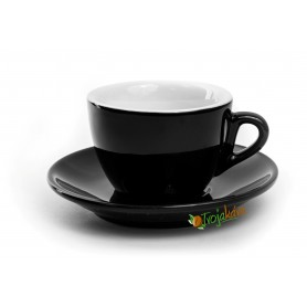 Rosa šálka cappuccino čierna 160 ml