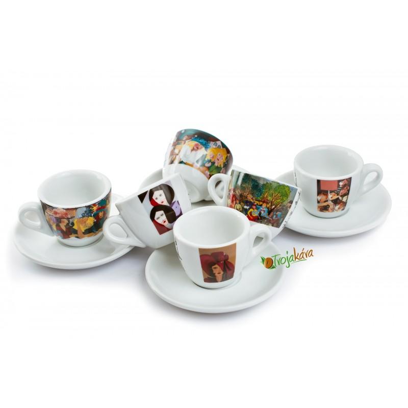 Šálky na kávu Rossa set