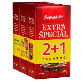 Popradská Extra špecial vákuová 3 x 250 g