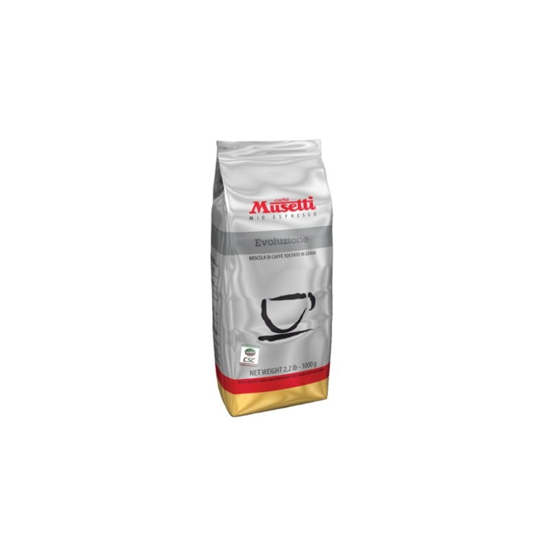 Musetti káva EVOLUZIONE 100% Arabica zrnková 1000 g