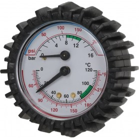 Termomanometer 0 - 16 bar / 0 - 120 st. C