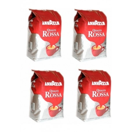 4 X 1 kg Lavazza Qualita Rossa zrnková káva