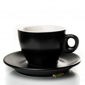 Giacinto šálka cappuccino čierna matná 195 ml