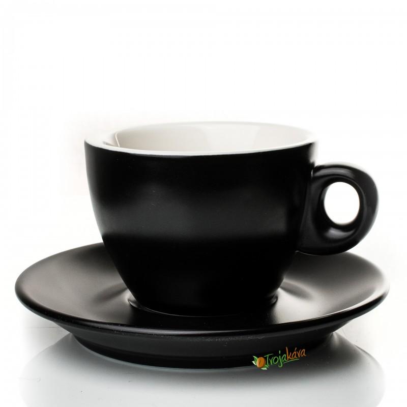 Rosa šálka cappuccino čierna 165 ml