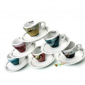 Musetti  šálky Sensi espresso farebné 6 ks