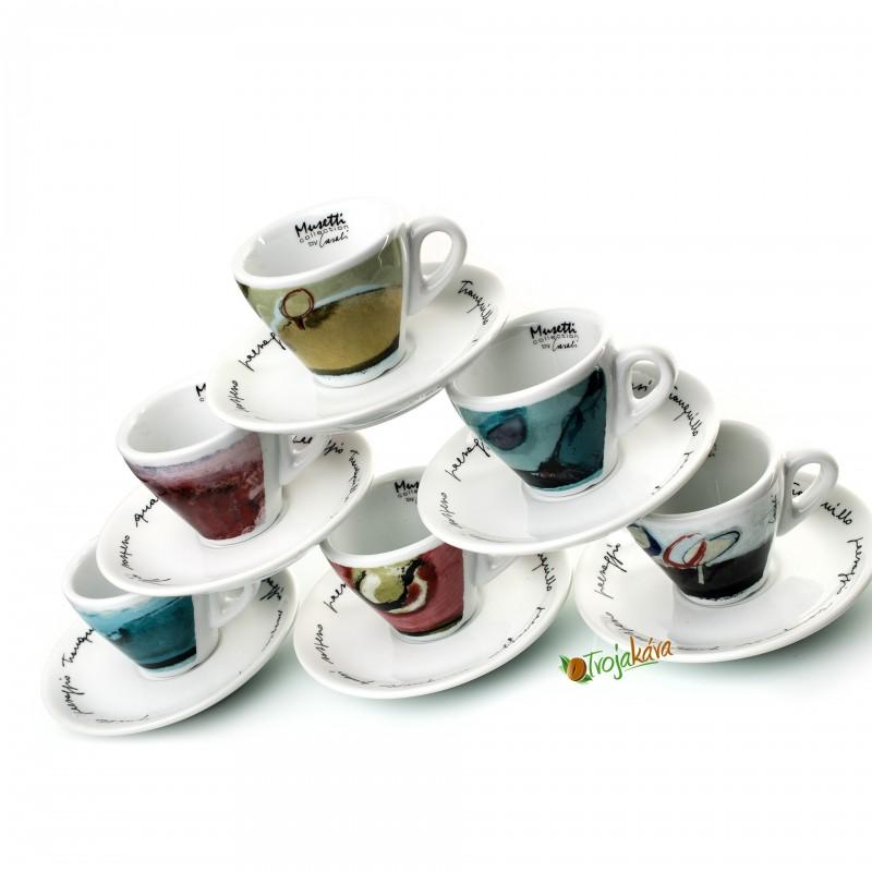 Musetti  šálky Sensi espresso 6 ks
