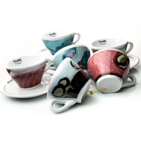 Musetti  šálky Paesaggio cappuccino farebné 6 ks
