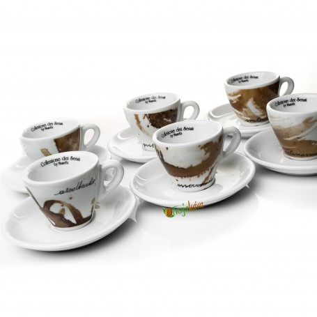 Musetti  šálky Sensi cappuccino hnedé 6 ks