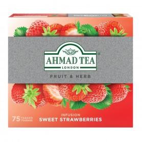 Ahmad Sladké jahody ovocný čaj 75 x 1,8 g