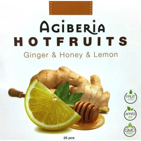 Agiberia Hot fruits zázvor s medom a citrónom 25 ks x  20 g